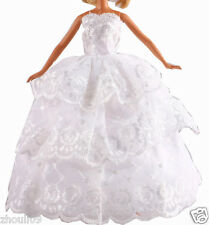 Handwork soft Princess Party Dress/Evening Clothes/Gown For Barbie Doll  1106