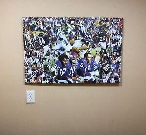 36x24 MINNESOTA VIKINGS  gallery wrapped CANVAS art  READY to HANG football