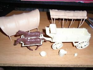 CLASSIC TOY AMERICAN COVERED WAGON  ALAMO PLAY SET