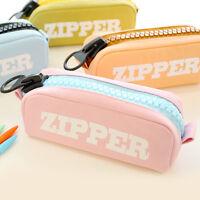 Cool Large Zipper Pencil Case Cute Pencil Pouch Pen Purse Makeup Cosmetic Bag