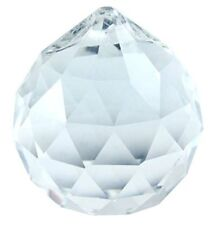 Clear Crystal Hanging Faceted Ball Prism, 20mm, 1 Piece