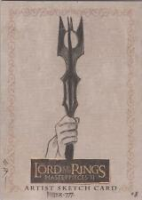 """Lord of the Rings Masterpieces II - Steven Miller """"Saruman's Staff"""" Sketch Card"""