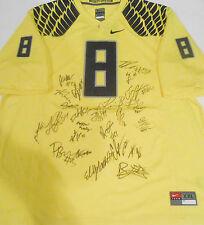 2014 Oregon Ducks Team Signed Football Jersey w/COA National Championship #1 C