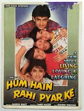 OLD BOLLYWOOD MOVIE PRESS BOOK-HUM HAIN RAHI PYAR KE /AAMIR KHAN JUHI CHAWALA