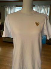 Womens Medium PLAY Comme Des Garcons Gold Heart T-Shirt