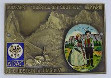 """Ältere Auto Plakette ADAC Quizfahrt """" Quer durch Südtirol """" 1976"""