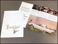 1961 Ford Thunderbird Original Dealer Sales Brochure Catalog