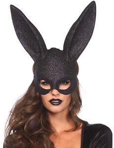 Verruchter Bunny Hasen-Maske Glitter schwarz - Cod.79972