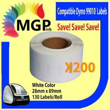 200x Rolls of Quality 99010 label 28mm x 89mm/130 Per Roll for Dymo labelWrite