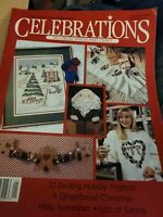 Leisure Arts Celebrations to Cross Stitch and Craft Premier Issue Vol 1 No 1 30 All-New Christmas Projects 1989