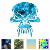 Skull Death Vampire Fang - Decal Sticker - Multiple Patterns & Sizes - ebn1100