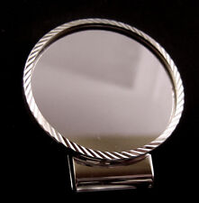Coin Money Clip 39mm Silver Round D/C Sterling Silver Bezel Rhodium Hinge Back