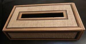 Vintage Bamboo? Stick Tissue Box Cover MCM Boho Asian Decor