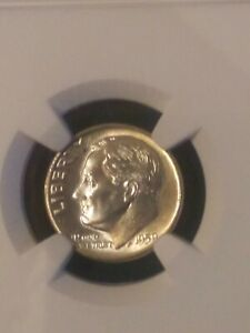 1959-D Silver Roosevelt Dime - Graded NGC MS67