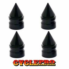 4 Billet Black Aluminum Spike Tire Air Valve Stem Caps for Car Truck Trailer SUV