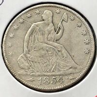 1854 O Seated Liberty Half Dollar 50c New Orleans Better Grade #11857
