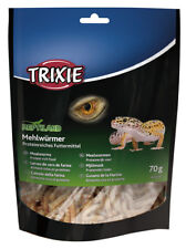 Natural Dried Mealworms Food Treat 70g for Reptile Bird Hamster Turtle by TRIXIE