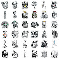 925 European Sterling Animals Silver Charms Bead for Bracelet Chain Necklace au9
