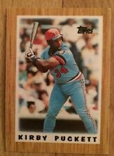 1987 Topps Kirby Puckett Mini League Leaders Baseball Card #63 Minnesota Twins