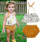 Newborn Kid Toddler Baby Girl Shirt Top+Shorts Pants Playsuit Outfit Set Clothes