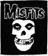 THE MISFITS CRIMSOM GHOST SKULL PUNK PSYCHOBILLY GOTH LGE OVERLOCKED BLACK PATCH