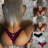 Women Lace Sexy Underwear Ladies Waist Briefs Panties Thongs Lingerie G-string
