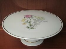 RICHARD GINORI PRIMAVERA PORCELAIN FOOTED CAKE STAND / PLATE - Made In Italy