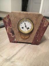 Horloge Pendule Marbre Art Deco Mécanisme Audurand Et Cie
