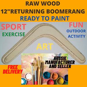 "Returning Boomerang Art paint right & left hand Aussie made 12"" beginner"