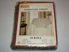 Stylemaster Furniture Chair Throw Scroll Pattern Olive