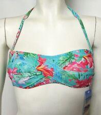 NUEVO Size 8 Top Bikini Sujetador Bandeu Con Correa Verde Mix Marks & Spencer