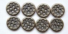 8 Trachtenknöpfe  Metall  altsilber 12 mm