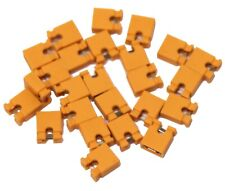 25x 2.54mm Micro Jumper Yellow Shorting Link Shunt With Open Test Point