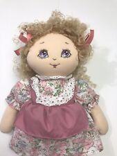 "Vintage 1990 Commonwealth Girl Doll 17"" Plush"