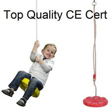 Plastic Swing Seat Red Flower Adjustable Ropes Kids Toddler Backyard Playground