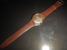 Rare SWATCH Swiss 1983 Gold Brown Prototype sehr selten!