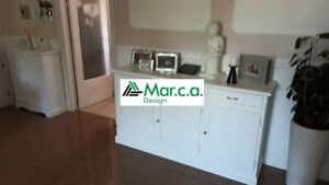 Cupboard 3 Doors White Matt Art Povera (1382)