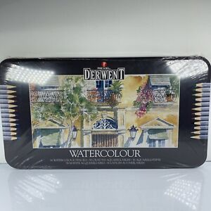 Derwent Watercolor Pencils 36 Water Colors in Tin Case 32885 SEALED Art Drawing
