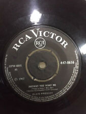 """ELVIS PRESLEY love me tender/anyway you want VERY RARE SINGLE 7"""" 45 INDIA VG+"""