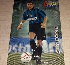 CARD CALCIATORI PANINI 98 INTER SIMEONE CALCIO FOOTBALL SOCCER ALBUM