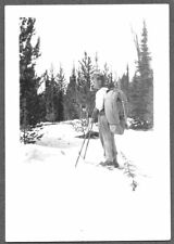 VINTAGE PHOTOGRAPH 1937 STONY LAKE MONTANA FORESTERY WORKERS FISHING TRIP PHOTO