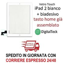 TOUCH SCREEN Apple iPad 2 WiFi 3G VETRO TASTO HOME MOD. A1395 A1396 A1397 BIANCO