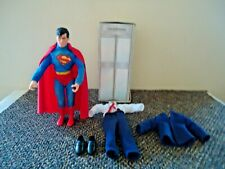 Vintage Hasbro D C Comics Superman Action Figure With Telephone Booth & Clothes