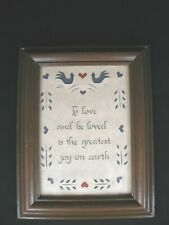 """Vintage Framed Paper Cut """"Saying"""" Picture by Designs with Scissors 1987"""