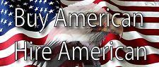 Buy American Hire American Flag Eagle Patriot Trump  bumper sticker support USA