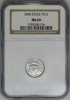2004 NGC $10 1/10 Platinum American Eagle MS69 Semi-Key Date