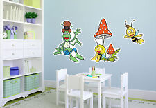 Wandsticker Wandtattoo günstige Kinderzimmer Deko Biene Maja mit Willi und Flip