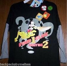 MICKEY Mouse Long Sleeve Shirt 4T NeW Boy's Clubhouse Disney Glows in the Dark