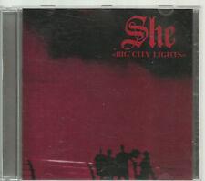 SHE BIG CITY LIGHTS 1991 UP MUSIC TOP RARE OOP CD ILLUSION LIPALI TSA LESSDRESS