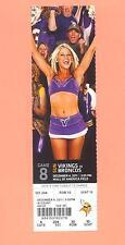 Denver Broncos  Minnesota Vikings 2011 tickets stub GEM MINT condition TIM TEBOW